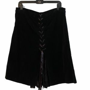 TRIPP NYC black goth 90's velvet skirt